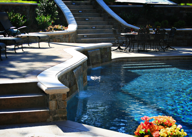 Tulsa pool design and build chlorine vs salt water pools for Pool design generator