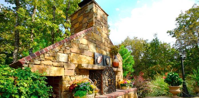 oklahoma-landscape-Fireplaces Pits 1