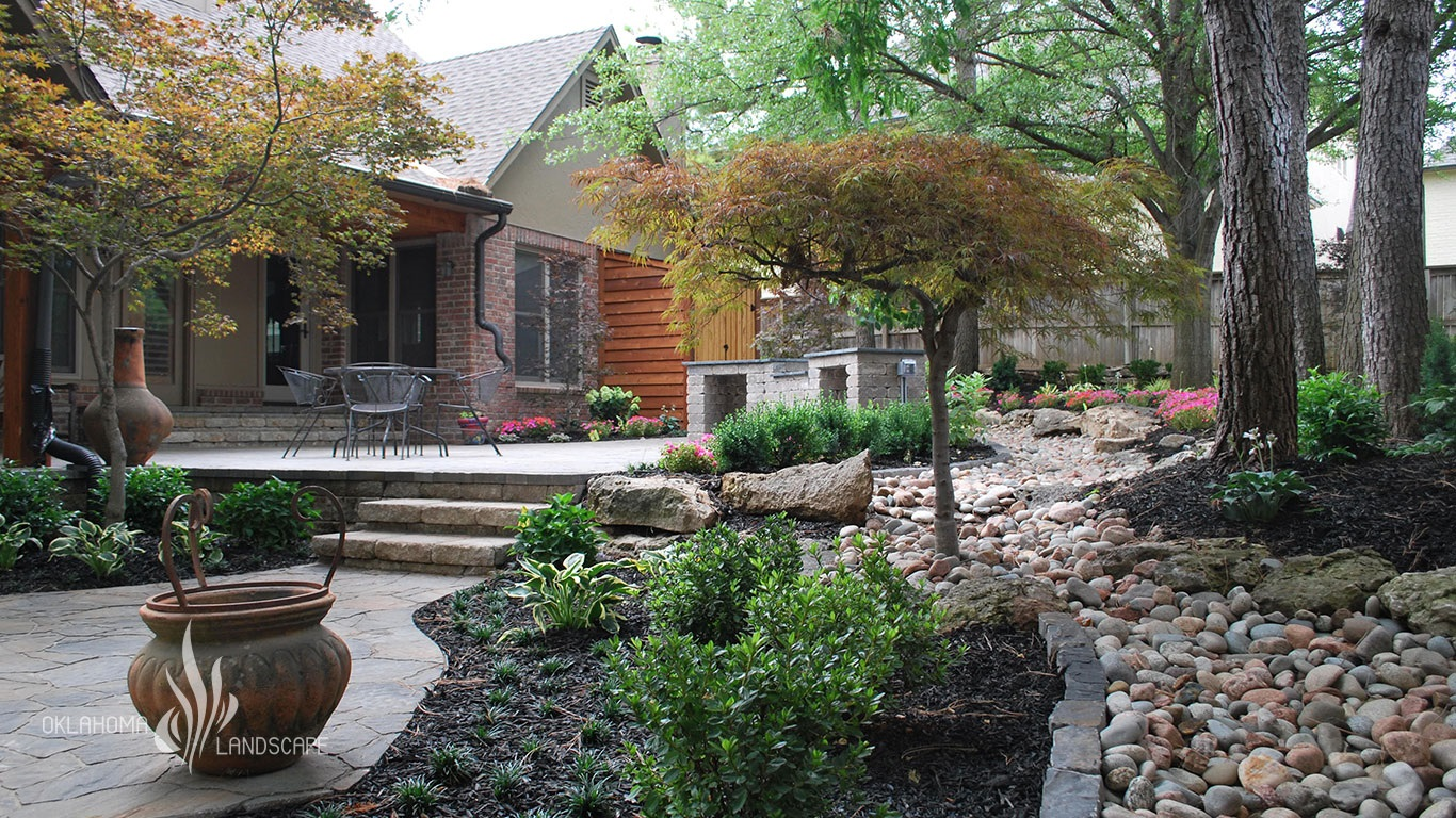 Landscaping Project Shady Backyard Retreat Outdoor Living